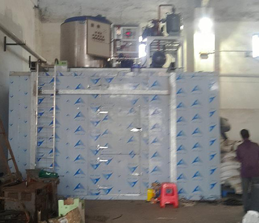 15 tons explosion-proof electronic control box flake ice machine with storage case