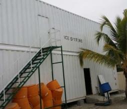 Box type sea water flake ice machine