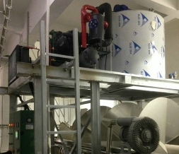 Poultry slaughter spiral pre-chilled flake ice machine project