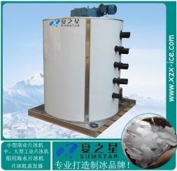 Medium flake ice machine evaporator